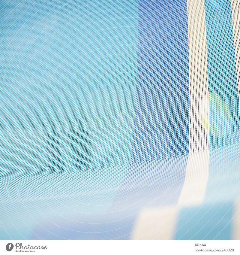 IIIOI Blue White Background picture Structures and shapes Stripe Pattern Woven Deckchair Cloth Fine Delicate Colour photo Abstract Deserted Copy Space left