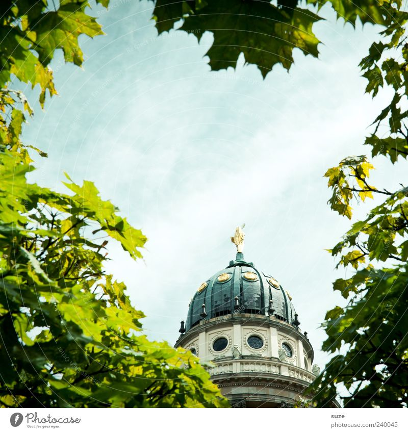 Sky Vacation & Travel Beautiful Summer Leaf Environment Travel photography Berlin Germany Gold Tourism Europe Church Manmade structures Landmark