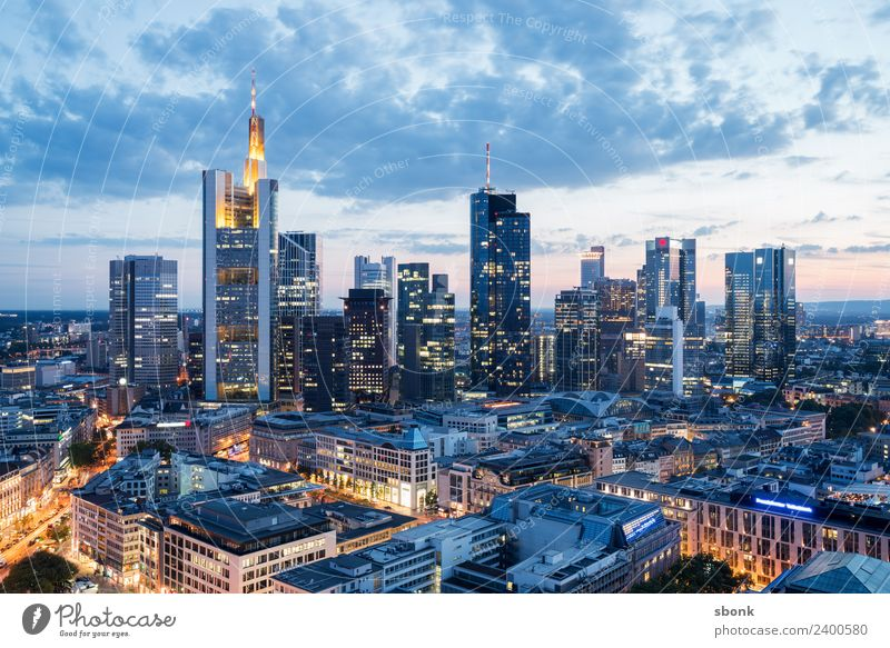 Vacation & Travel Town Architecture Building Business Office High-rise Skyline Downtown Frankfurt City Main