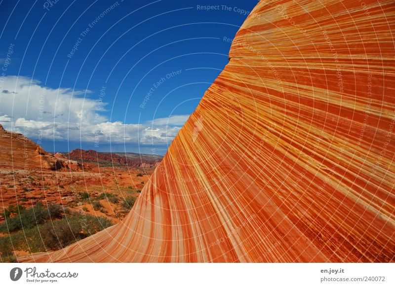 Nature Vacation & Travel Blue Colour Landscape Environment Exceptional Rock Earth Orange Tourism Climate Beautiful weather Uniqueness USA Desert