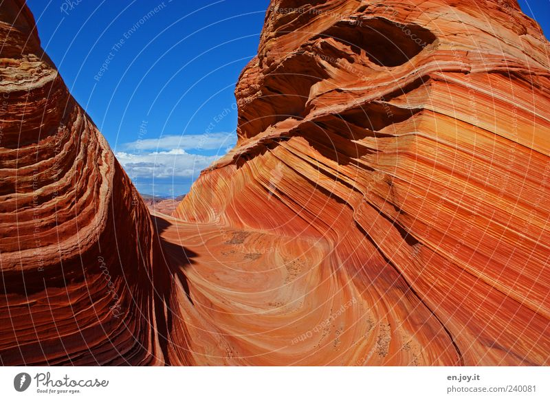 pure happiness Vacation & Travel Tourism Nature Landscape Sky Rock Blue Red Wanderlust Bizarre Uniqueness Colour Miracle of Nature Coyote Buttes