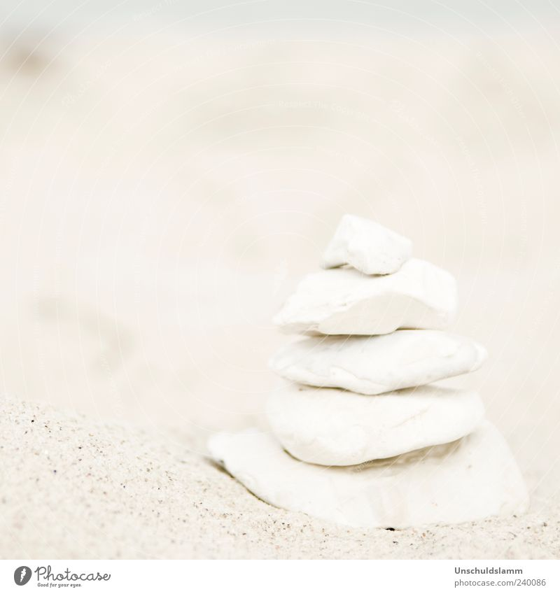 Nature White Calm Beach Environment Stone Sand Bright Contentment Decoration Esthetic Tower Harmonious Balance Build Stack