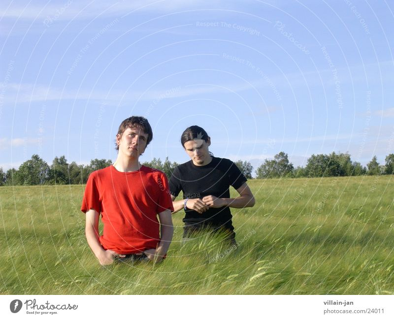 brothers Brother Field Leisure and hobbies Horizon Nature Sky