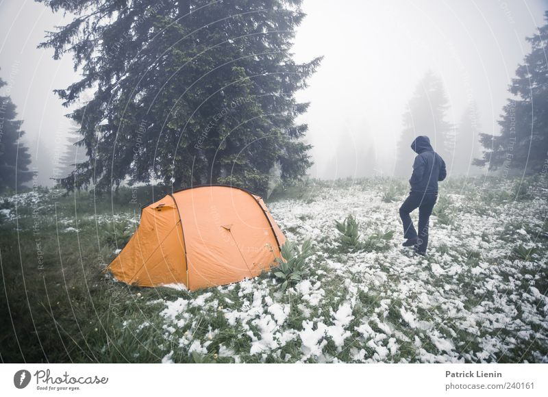 Never stop exploring Leisure and hobbies Vacation & Travel Trip Adventure Freedom Camping Snow Human being Environment Nature Landscape Elements Weather