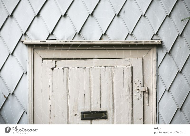 Old Wood Gray Moody Door Facade Closed Living or residing Gloomy Transience Hut Decline Tilt Hang Ruin Mailbox