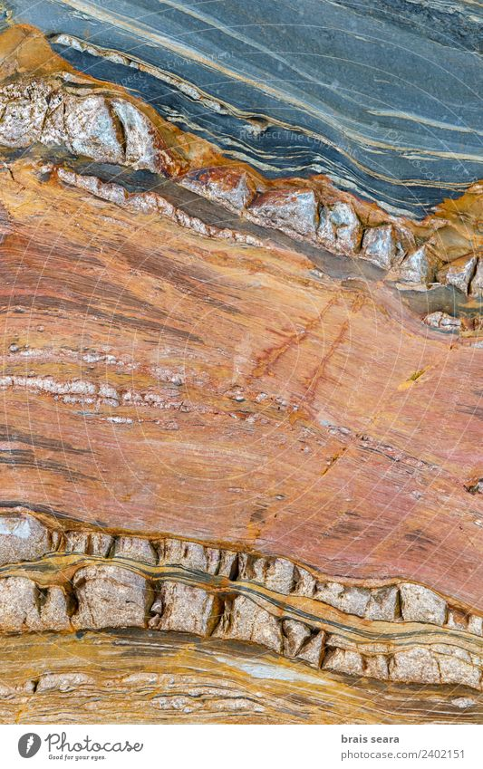 Sedimentary rocks texture Vacation & Travel Beach Ocean Science & Research Geology Geologist Environment Nature Earth Coast Tourist Attraction Landmark Blue