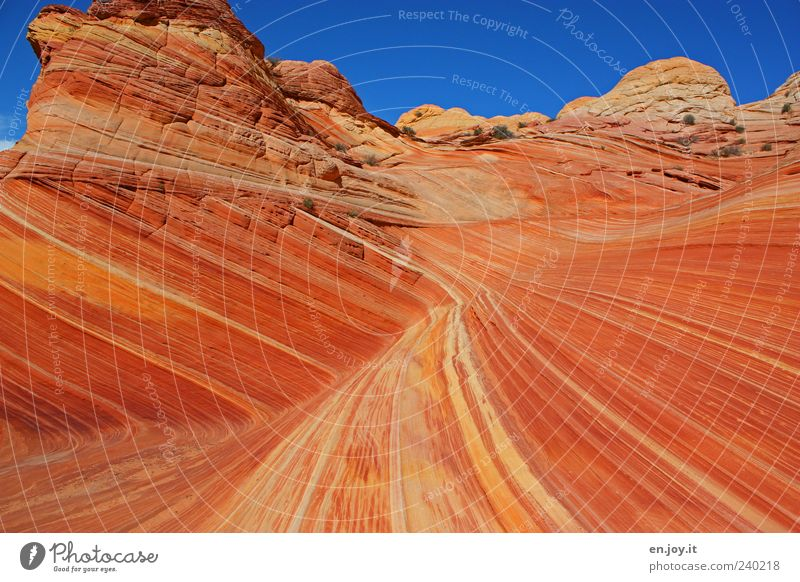 sharp turn Vacation & Travel Tourism Nature Landscape Rock Desert Stone Exceptional Blue Brown Red Wanderlust Bizarre Uniqueness Miracle of Nature Coyote Buttes