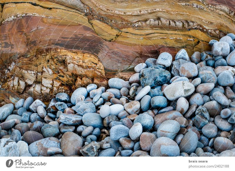 Sedimentary rocks texture Beach Ocean Science & Research Geology Geography Geologist Environment Nature Earth Coast Tourist Attraction Landmark Pebble Stone