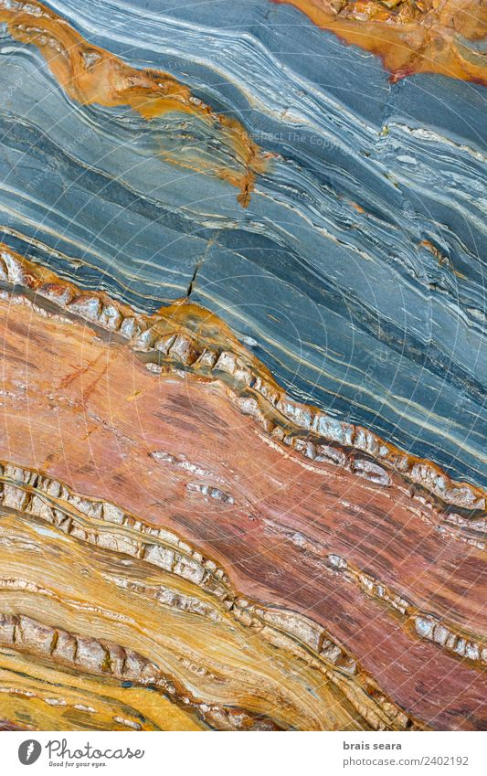 Sedimentary rocks texture Beach Ocean Education Science & Research Geology Geography Profession Geologist Environment Nature Earth Coast Stone Natural Blue