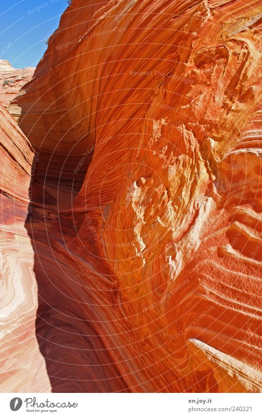 no passage Vacation & Travel Tourism Nature Landscape Rock Stone Exceptional Blue Brown Red Bizarre Miracle of Nature Coyote Buttes USA Americas Arizona Utah