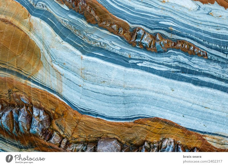 Sedimentary rocks texture Beach Ocean Education Science & Research Geology Profession Geologist Art Environment Nature Earth Coast Tourist Attraction Stone