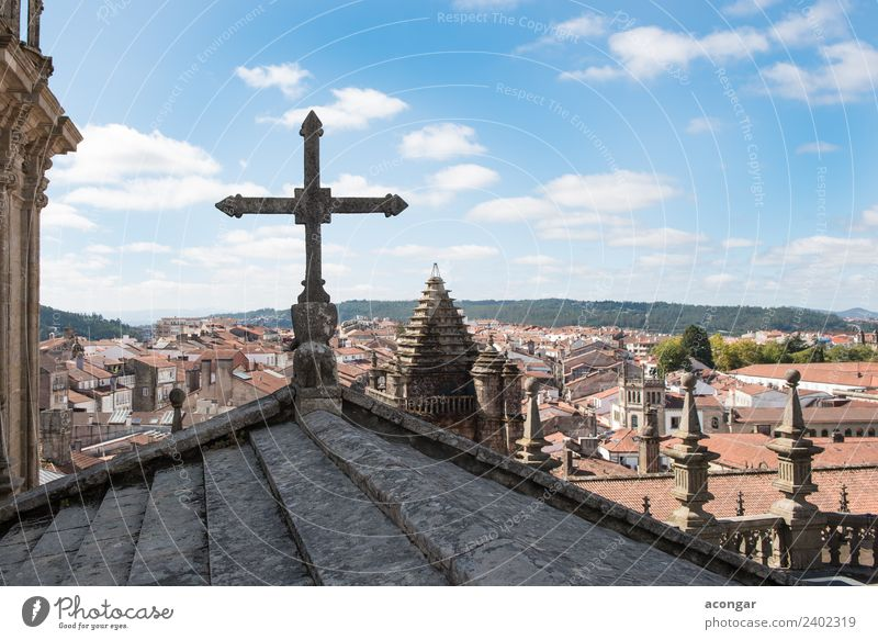 Views of the city of Santiago de Compostela (Galicia) Vacation & Travel Old Architecture Religion and faith Building Tourism Vantage point Church Europe Culture