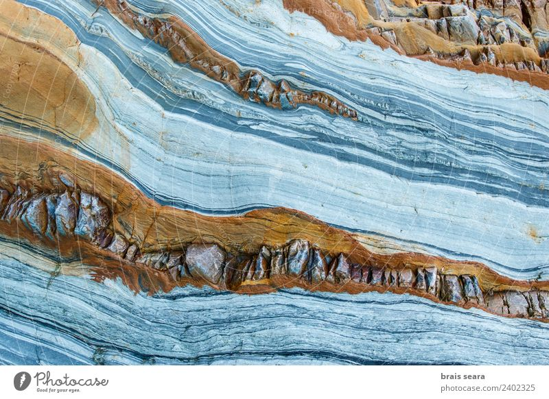 Sedimentary rocks texture Beach Ocean Wallpaper Education Science & Research Geology Profession Geologist Nature Rock Coast Tourist Attraction Stone Yellow