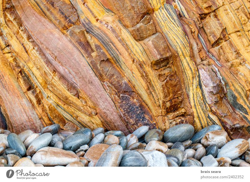 Sedimentary rocks texture Nature Colour Ocean Beach Environment Background picture Natural Coast Stone Earth Rock Europe Tourist Attraction Education Profession
