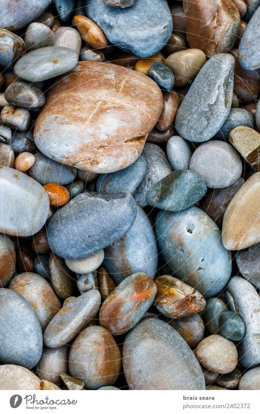 Pebbles Nature Colour Ocean Beach Environment Coast Art Stone Earth Rock Design Europe Spain Science & Research Wallpaper