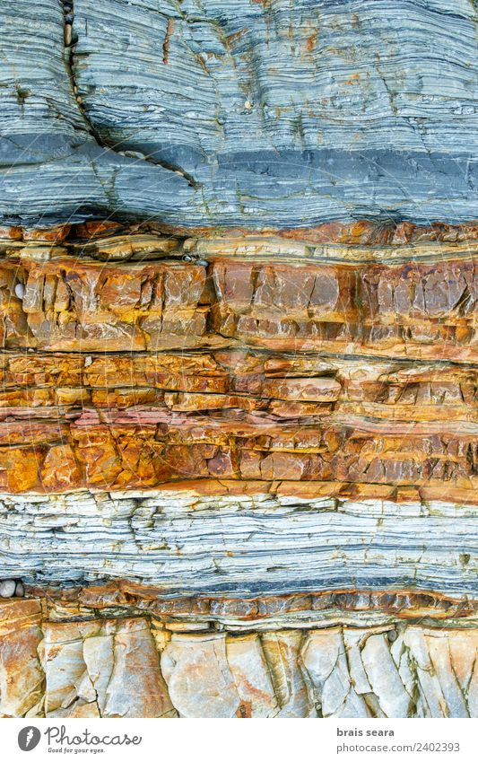 Sedimentary rocks texture Beach Ocean Wallpaper Science & Research Geology Profession Geologist Environment Nature Earth Rock Coast Stone Yellow Turquoise