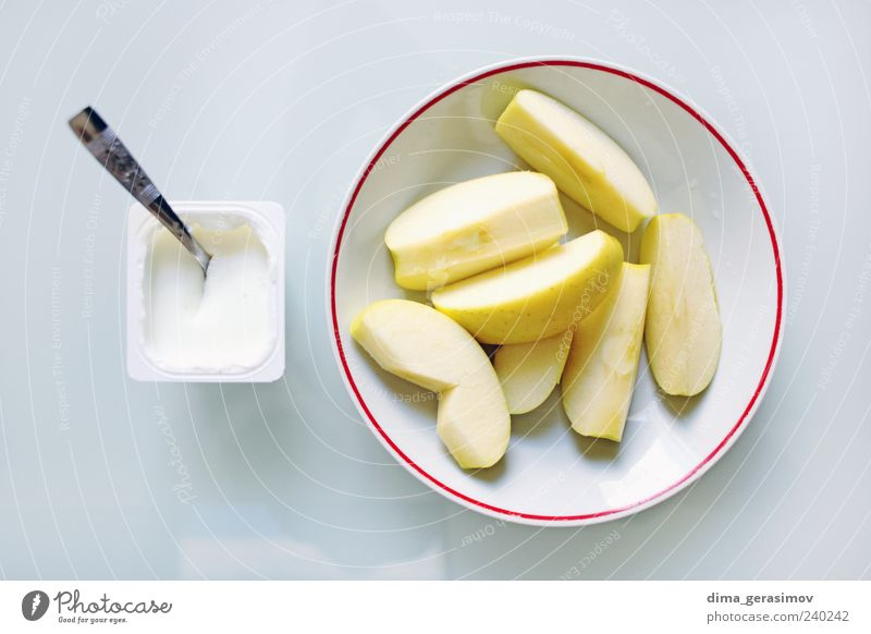 Breakfast Food Fruit Vegetarian diet Diet Plate Spoon Healthy Colour photo Interior shot Morning Day