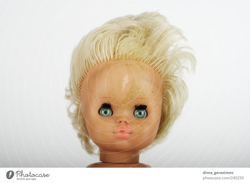 Doll head Beautiful Face Hair and hairstyles Skin Gloomy Plastic Make-up Cry Human being