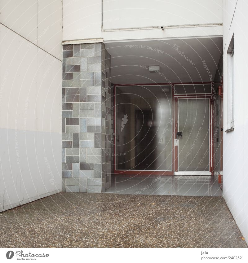 House (Residential Structure) Window Wall (building) Architecture Gray Wall (barrier) Building Door Facade Gloomy Manmade structures Front door