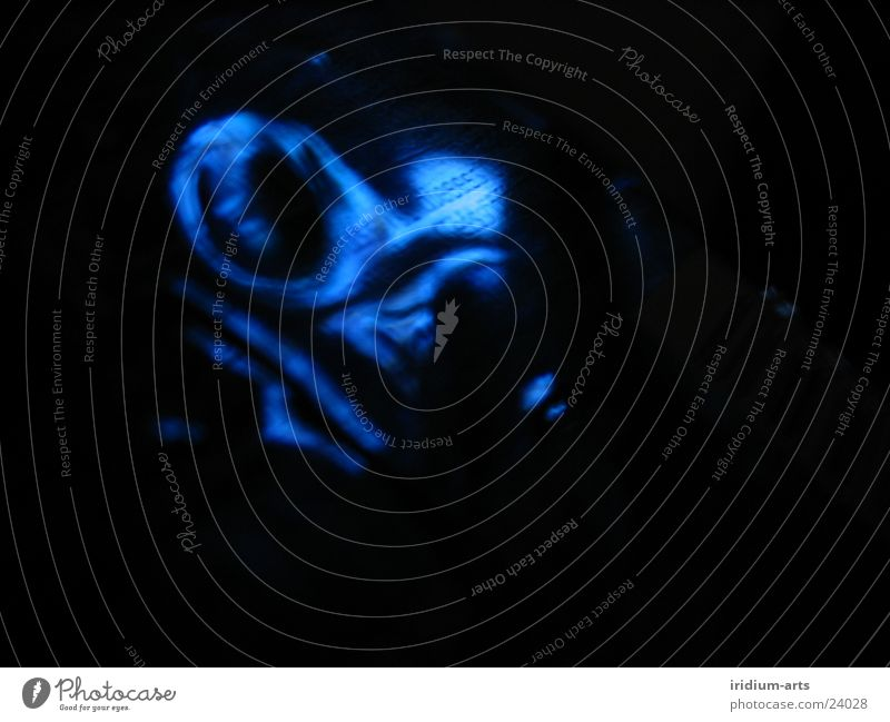 Blue Black Waves Characters Whirlpool Photographic technology