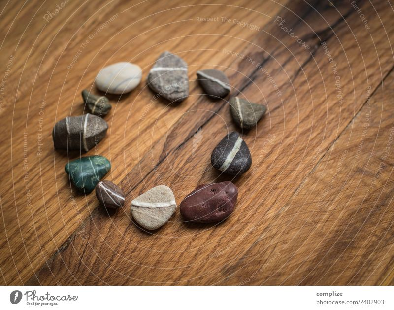 Stone circle on old wood Design Healthy Health care Alternative medicine Wellness Relaxation Calm Cure Spa Decoration To talk Couple Environment Rock Sign