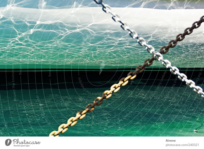 maritime impression Sailing Navigation Boating trip Fishing boat Yacht Sailboat Harbour Metal Water Crucifix Line Fluid Cold Wet Blue Green White Calm Clarity