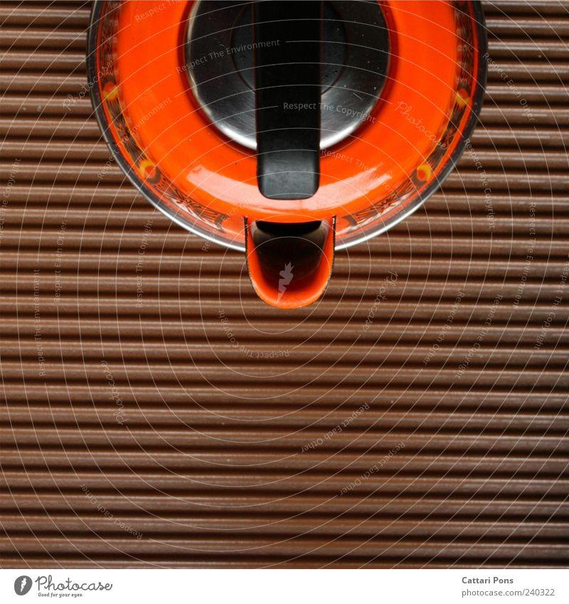 Brown Orange Stand Retro Cooking & Baking Kitchen Timeless Robust Hot drink Kettle
