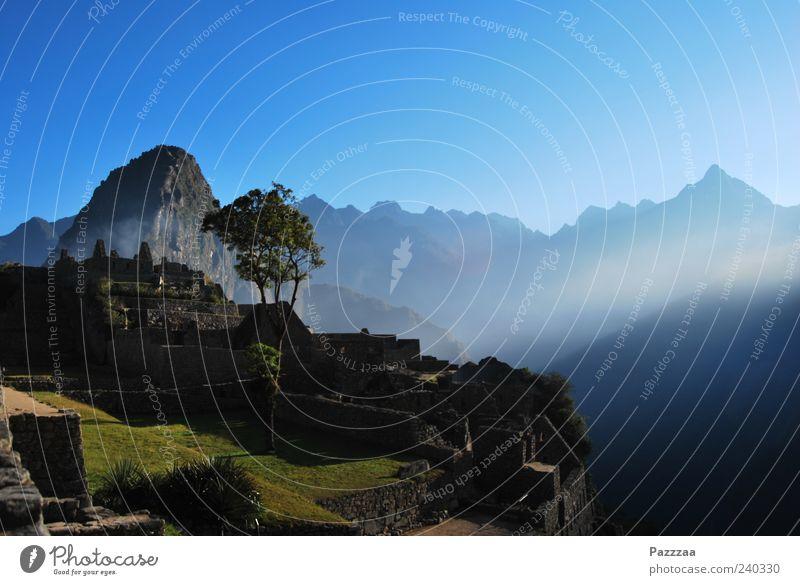Good morning, Machu Picchu! Vacation & Travel Tourism Trip Sightseeing Expedition Mountain Nature Andes Peru Machu Pichu Ruin Inca Excavation Archeology Stone