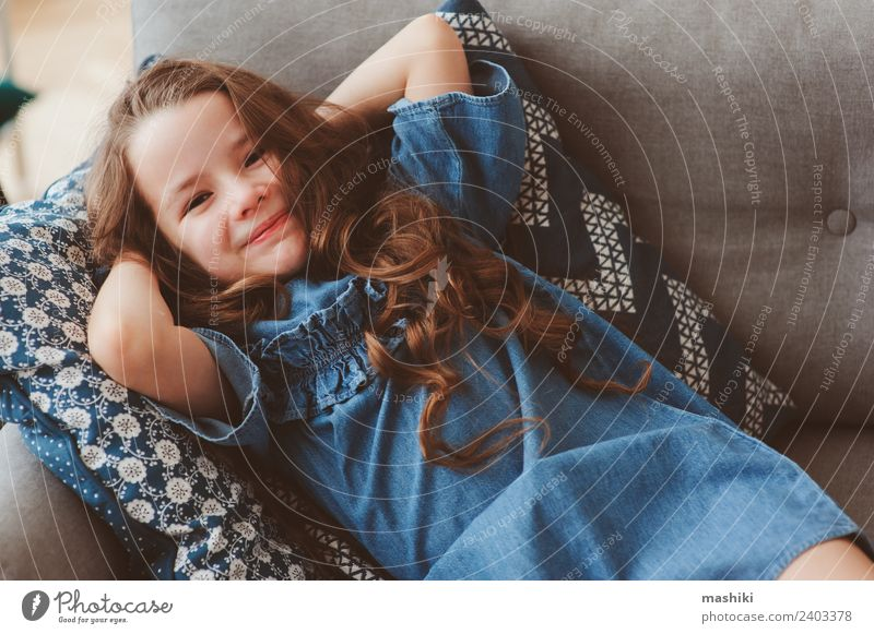 cute happy 5 years old child girl Woman Child Relaxation Loneliness Joy Adults Lifestyle Happy Small Fashion Dream Infancy Sit Smiling Happiness Cute
