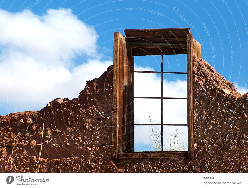 Window with view! House (Residential Structure) Building Clouds Room Ruin Building for demolition Vantage point Future Architecture Sky Freedom