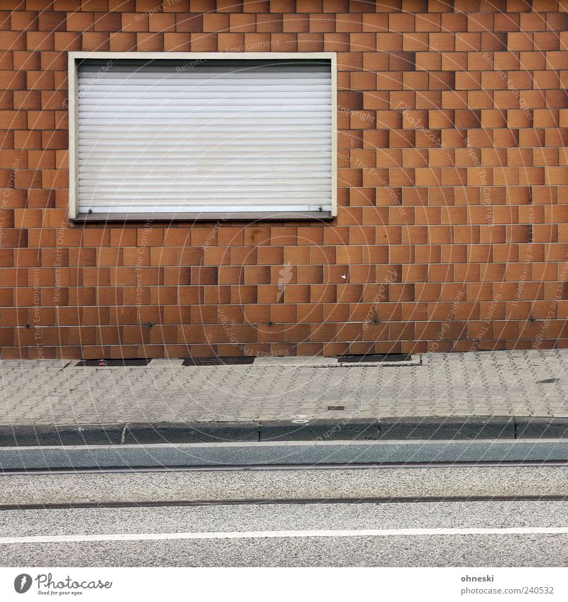House (Residential Structure) Window Wall (building) Architecture Wall (barrier) Building Facade Closed Gloomy Manmade structures Sidewalk Tile Hideous