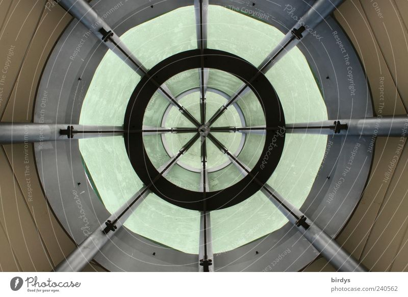 Architecture Style Esthetic Circle Round Middle Manmade structures Symmetry Geometry Circular Worm's-eye view Tunnel vision Crossbeam Glass dome