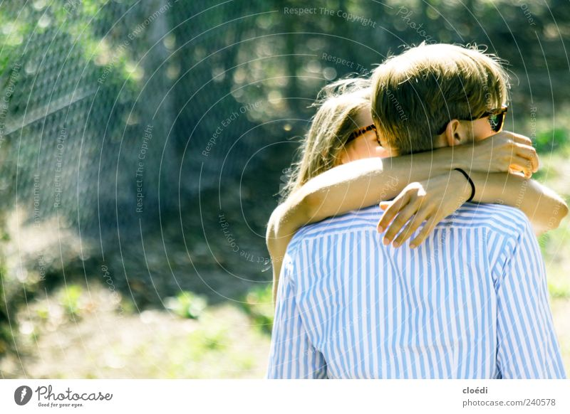 Human being Woman Man Youth (Young adults) Adults Love Emotions Warmth Happy Together Contentment Blonde Arm Masculine Safety 18 - 30 years