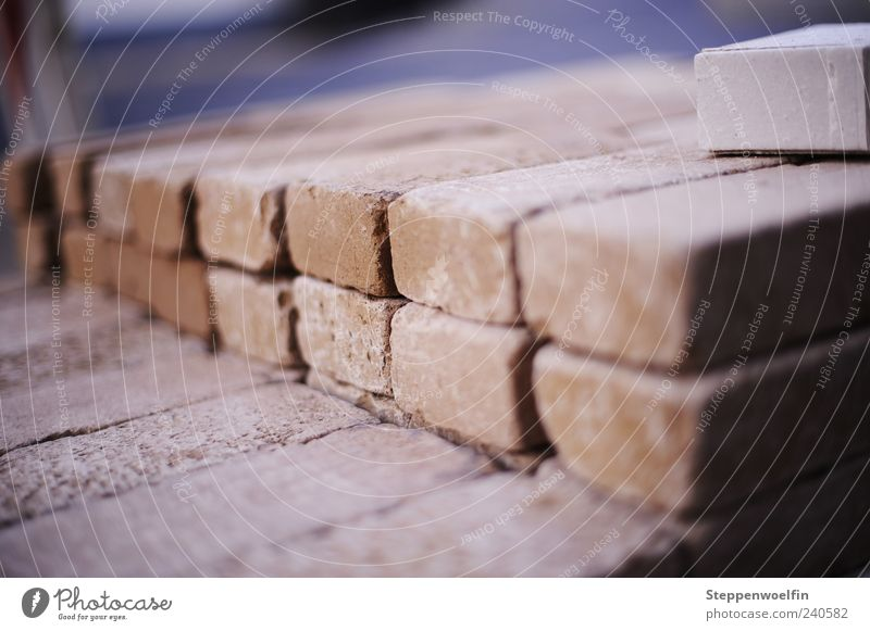 Blue Stone Work and employment Dirty Construction site Brick Depth of field Stack Paving stone Dusty Close-up Ground