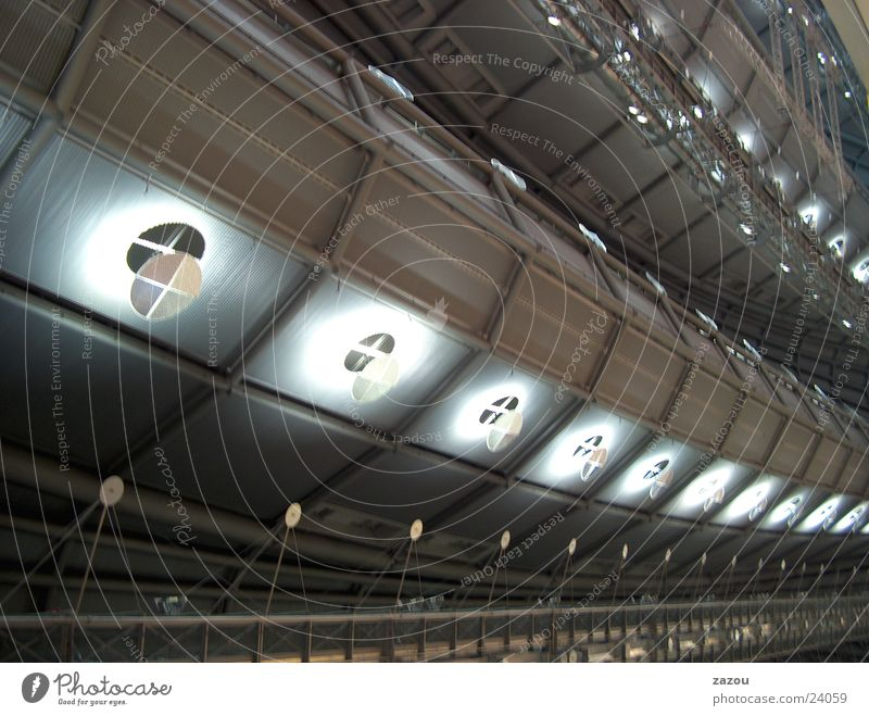 spaceship-like ceiling Exhibition hall Roof Architecture Warehouse Blanket hall ceiling UFO Above Star Trek