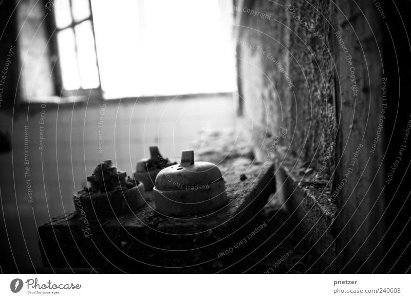 decay House (Residential Structure) Industrial plant Ruin Manmade structures Building Wall (barrier) Wall (building) Bell Old Dirty Dark Creepy Broken Gloomy
