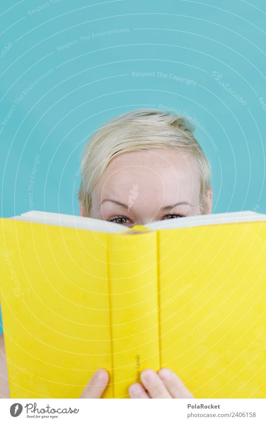 #A# Literary Hideaway Art Work of art Esthetic Reading Playing Playful Yellow Book Page Bookshop Book fair Observe Spy hollowed Study Colour photo