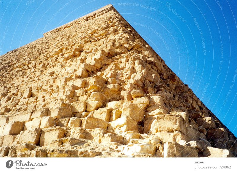 Close-up Pyramid Egypt Giza Cairo Pharaohs Historic Stone