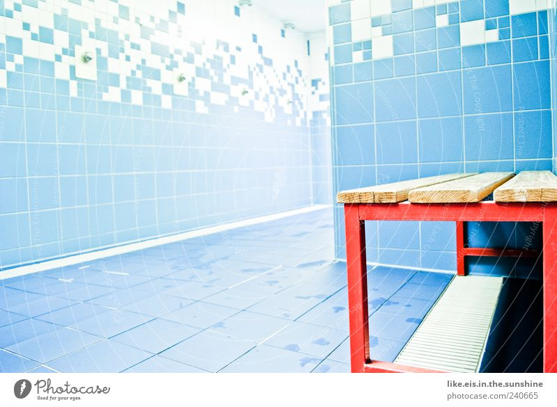 the best at training (II) Sporting Complex Swimming pool Blue Red Shower (Installation) Changing room Stool Chair Wet Bathroom Indoor swimming pool Tile