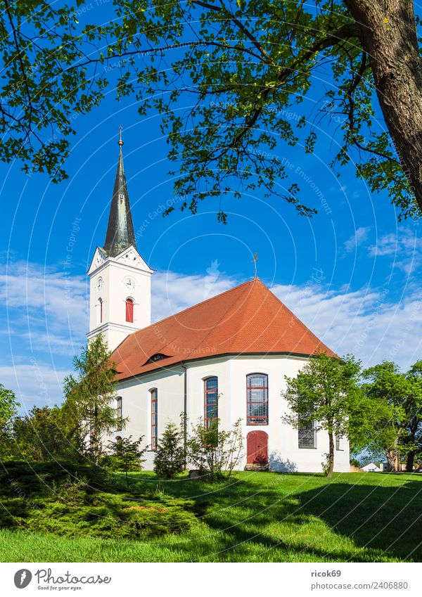 Church in Zerkwitz near Lübbenau Relaxation Vacation & Travel Tourism House (Residential Structure) Clouds Tree Grass Building Architecture Tourist Attraction