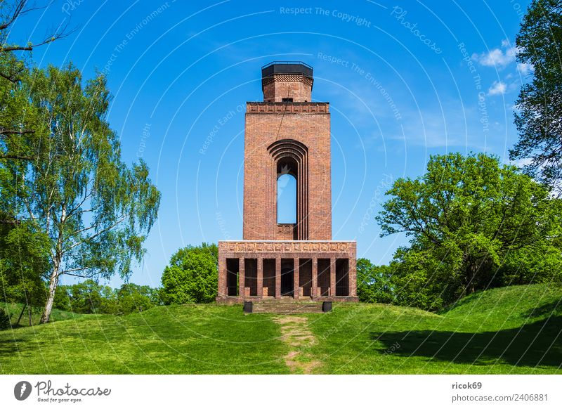Bismarck Tower in the Spreewald in Burg Relaxation Vacation & Travel Tourism Clouds Tree Grass Castle Manmade structures Building Architecture