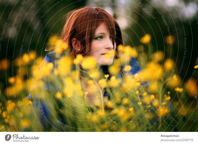 Human being Nature Youth (Young adults) Vacation & Travel Beautiful Summer Relaxation Flower Calm Joy 18 - 30 years Adults Environment Life Meadow Grass