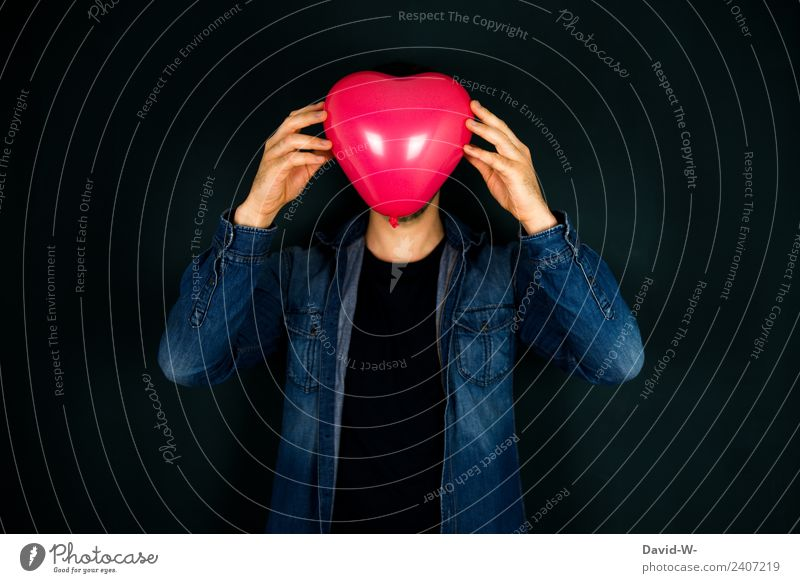 blind with love Healthy Life Flirt Valentine's Day Mother's Day Human being Masculine Man Adults Youth (Young adults) Head 1 Love Emotions Lovesickness