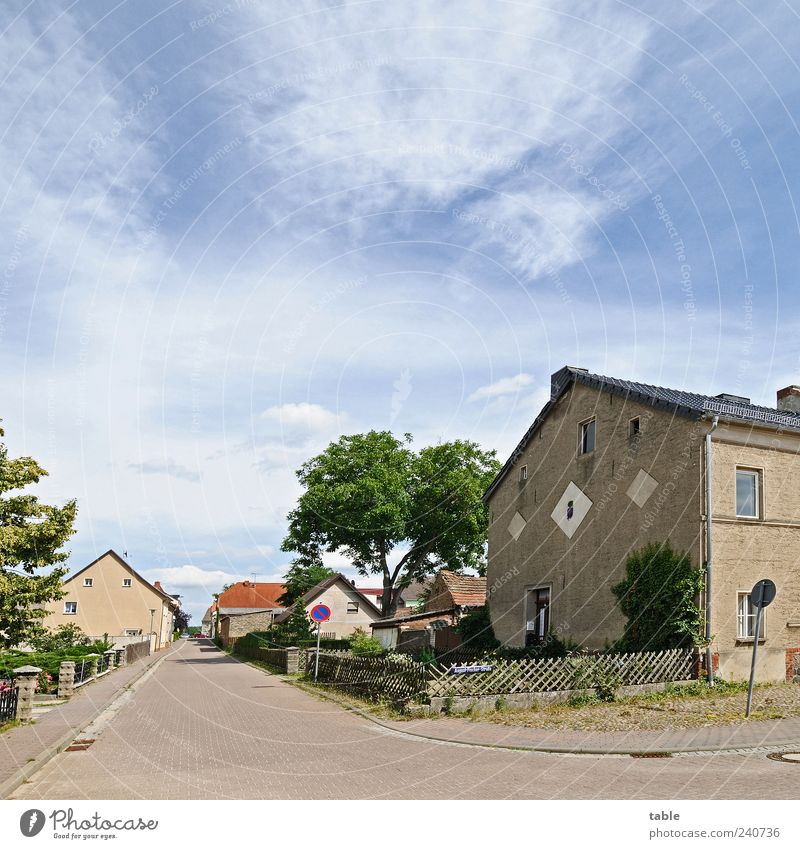 Lindow/Mark Brandenburg Environment Nature Landscape Sky Summer Tree Germany Small Town Outskirts House (Residential Structure) Manmade structures Building