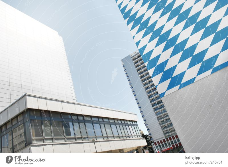 Blue White City House (Residential Structure) Architecture Building High-rise Bavaria Capital city