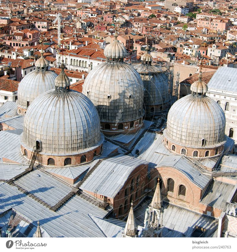 City Gray Brown Europe Church Roof Italy Downtown Dome Venice Tourist Attraction Old town Domed roof Port City Basilica San Marco