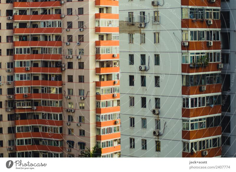 Beijing housing block Lifestyle City trip Downtown Prefab construction Town house (City: Block of flats) Facade Balcony Window Authentic Sharp-edged Large