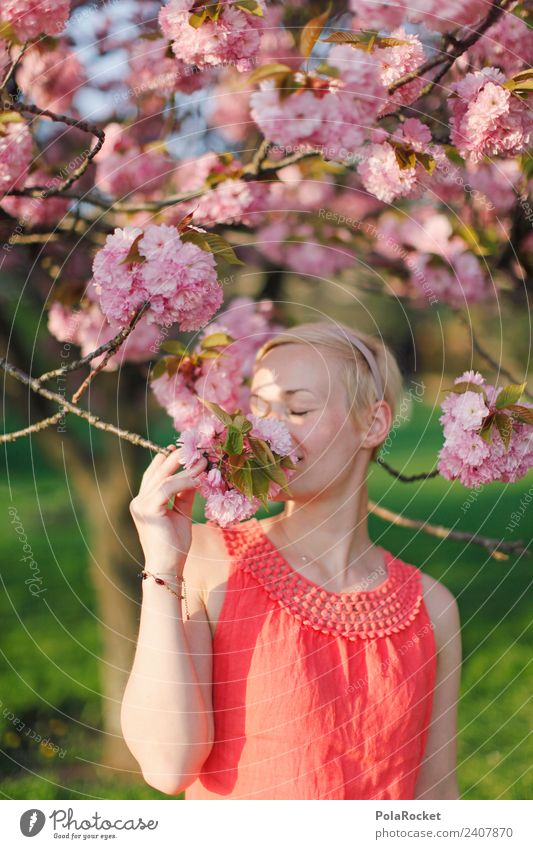 #A# Spring colors 1 Human being Esthetic Woman Face of a woman Fragrance Odor Pink Rose glasses Spring fever Spring flower Spring day Spring colours