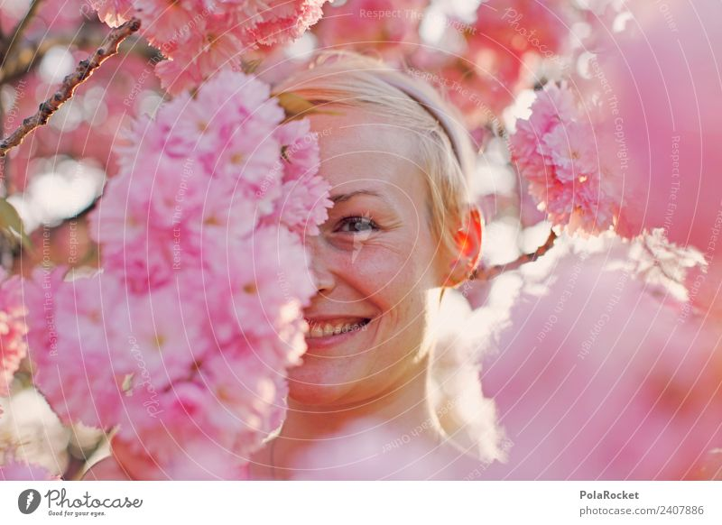 #A# Spring view Art Esthetic Hide Playing Woman Face of a woman Pink Rose glasses Grinning Smiling Impish Spring fever Spring day Spring colours