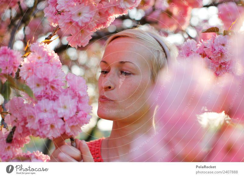 #A# Spring skepticism Art Esthetic Pink Rose glasses Hay fever Spring day Spring colours Fragrance Odor Face Exterior shot Discover Colour photo Multicoloured